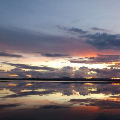 8/9-2011 – Beautiful sunset at Harbacken Badplats Färnäs (http://coord.info/GC2Y5MQ)